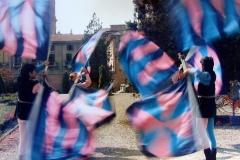 Sbandieratori 1986 , uscita a Fontanellato (Parma)